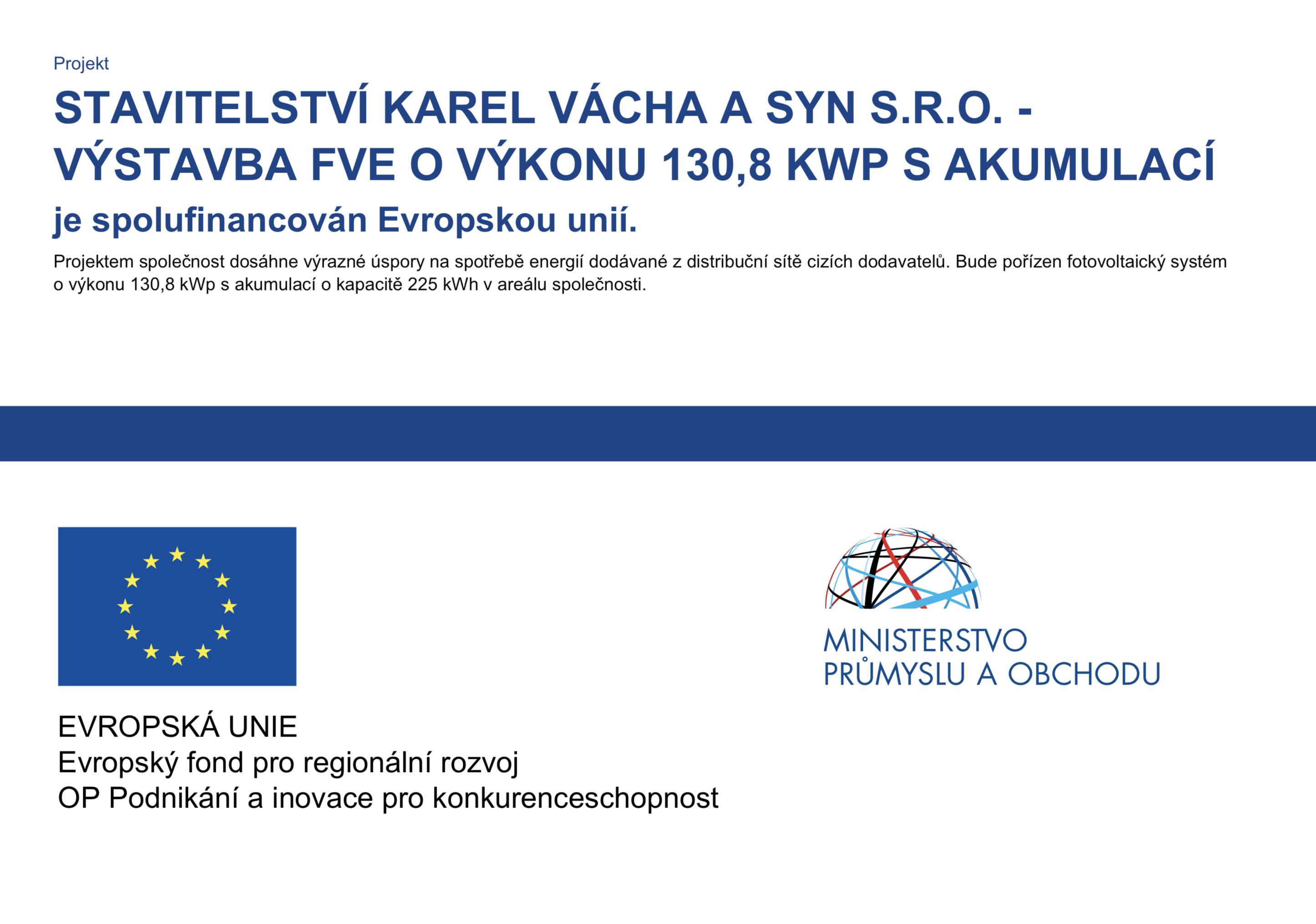 Projekt EU - Výstavba FVE